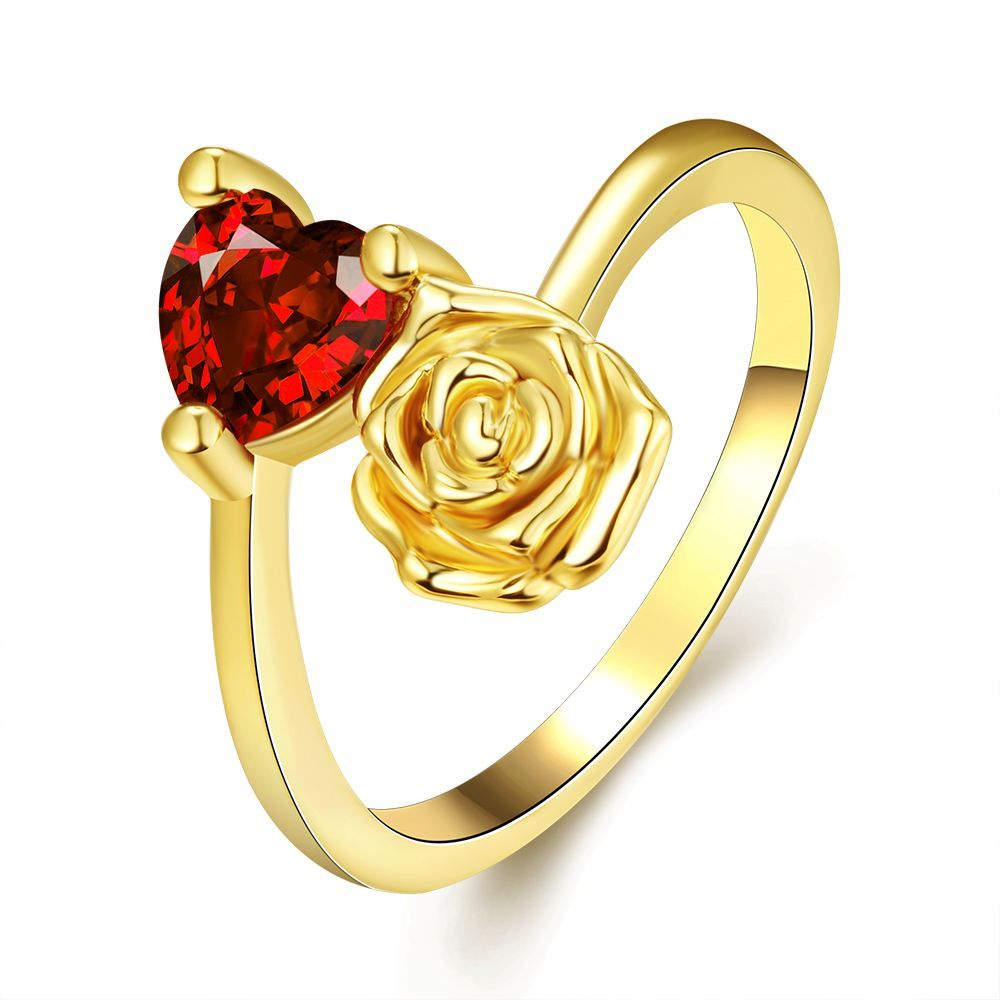 Buy Fashion Rings Women Classic Flower Gold Plated Rose Gold Plated Platinum Plated Copper Zircon Daily with wholesale free shipping & drop shipping.