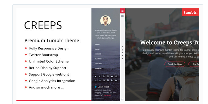 12 Professional Free and Premium Responsive Tumblr Templates ...