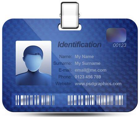 Name ID Card PSD Pinterest Card templates - id card psd template