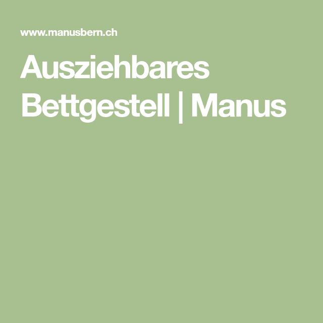 Ausziehbares Bettgestell | Manus