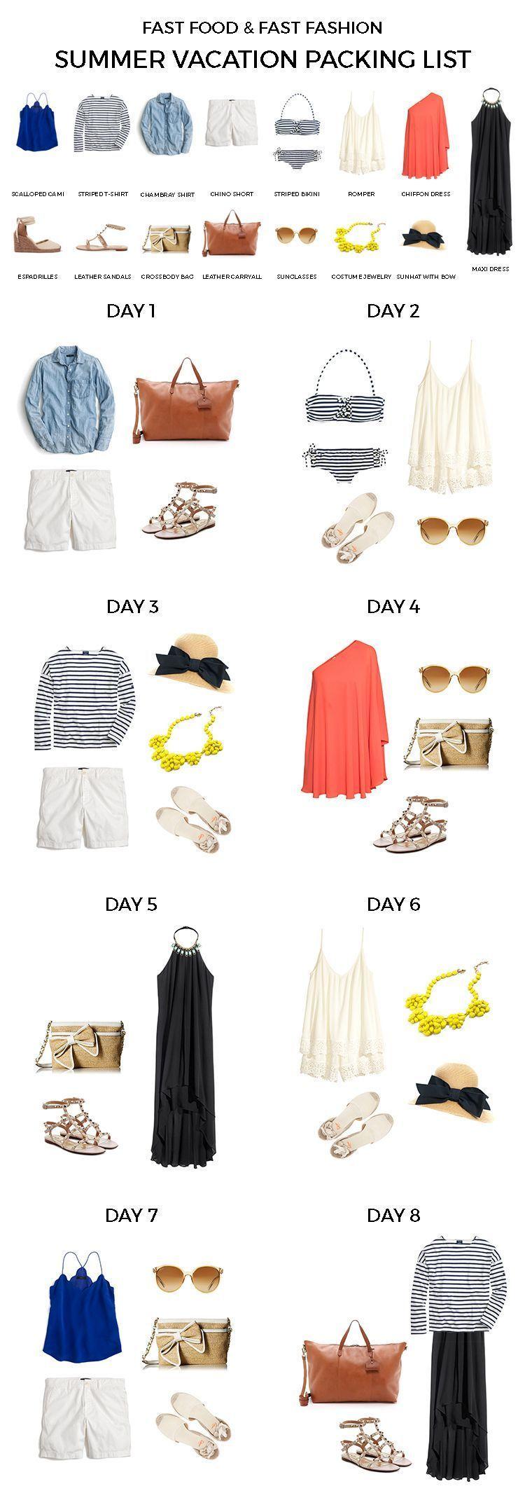 Summer vacation packing list | spain holiday | ropa para viaje #travelwardrobesummer Summer vacation packing list travel clothes summer, travel wardrobe summer, beach wardrobe, travel #travelwardrobesummer