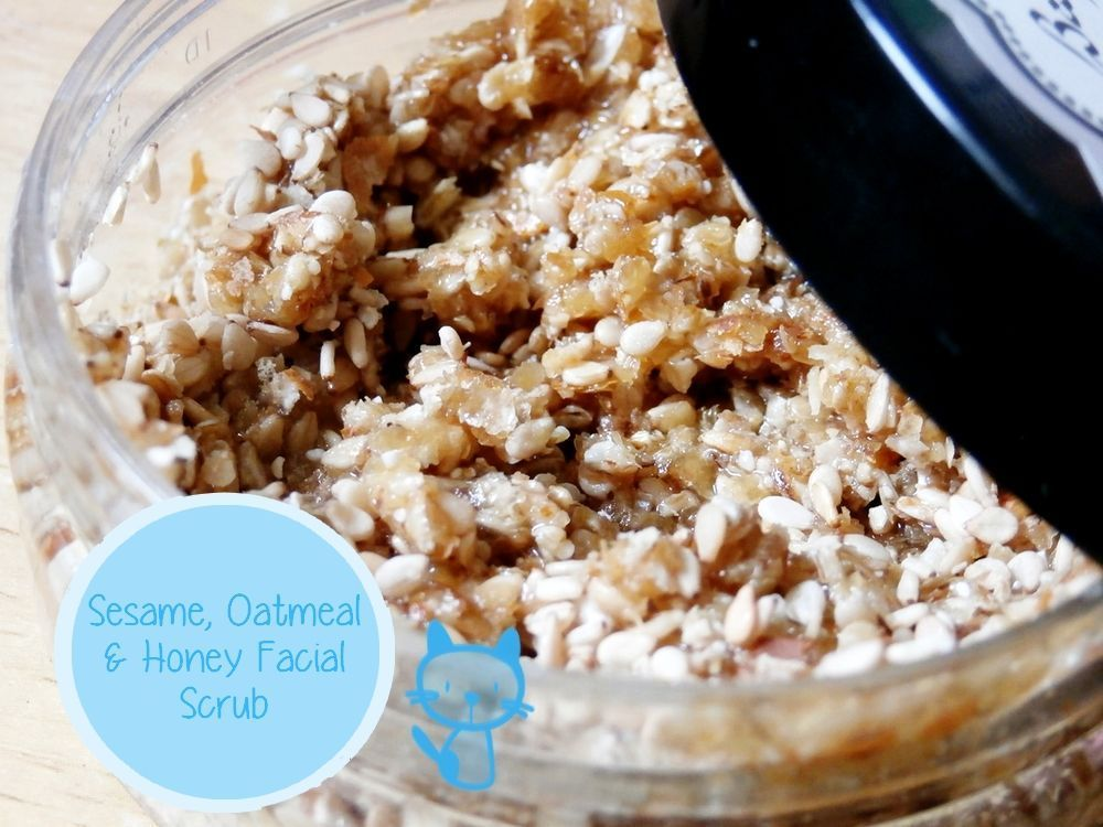 Facial recipes with sesame oil