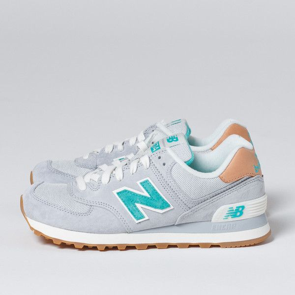 New Balance Womens 574 Beach Cruiser - Grey/Green