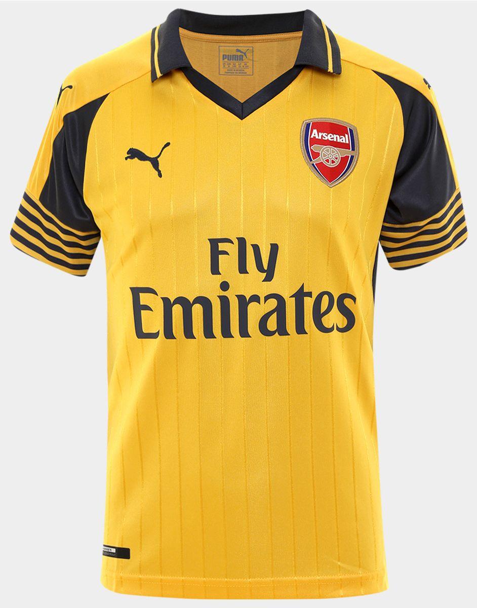 ... PUMA ARSENAL FC AWAY - Club wear spectra yellowebony Men super cute  ff7cb aa911  Buy Arsenal FC Jerseys in ... 630ffb3bb