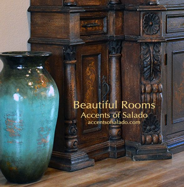 Tall Turquoise Floor Vase Tuscan Decor Pinterest Spanish