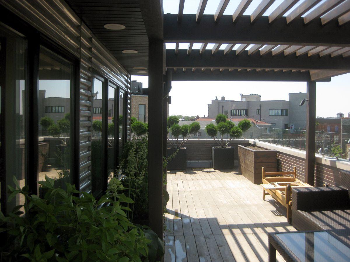Roof Deck, Pergola, Urban, Garden, Landscape, Design
