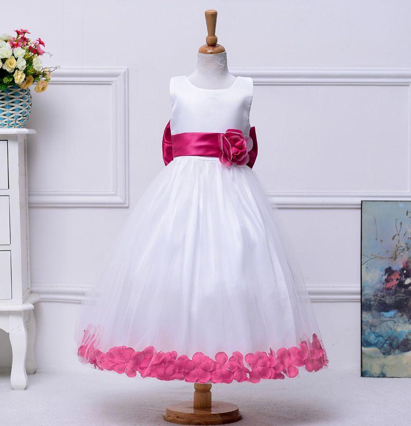 높은 품질의 13 색 새로운 꽃 소녀 드레스 웨딩 공주 소녀 미인 대회 드레스 2016 영성체 드레스 SA843