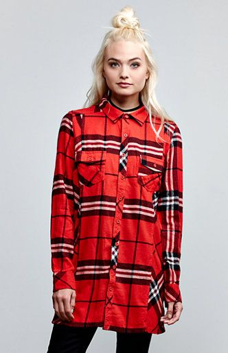 Love Me Not Flannel Tunic Shirt