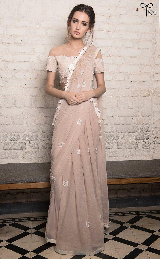 Les Parisiennes Rose Saree | Lindo, Vestidos de novia y De novia