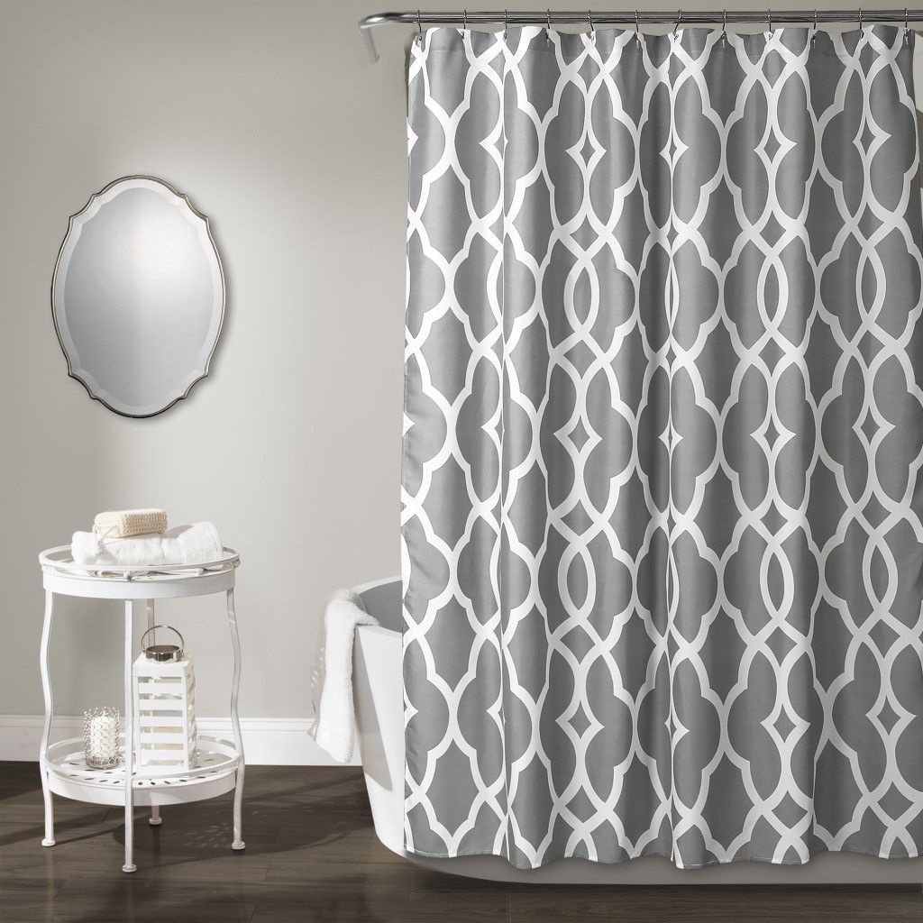 Connor Geo Shower Curtain Gray 72x72 Lush Decor 16t002814 In