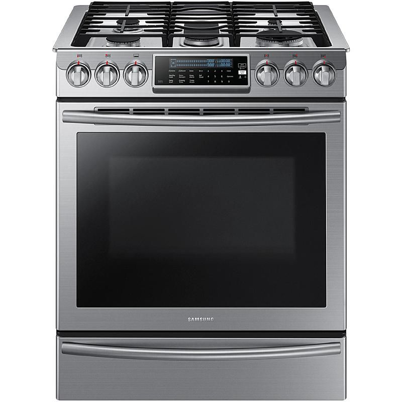 Samsung - NX58H9500WS - NX58H9500WS 5.8 cu. ft. Slide-In Gas Range w/ Intuitive Controls - Stainless Steel   Sears Outlet