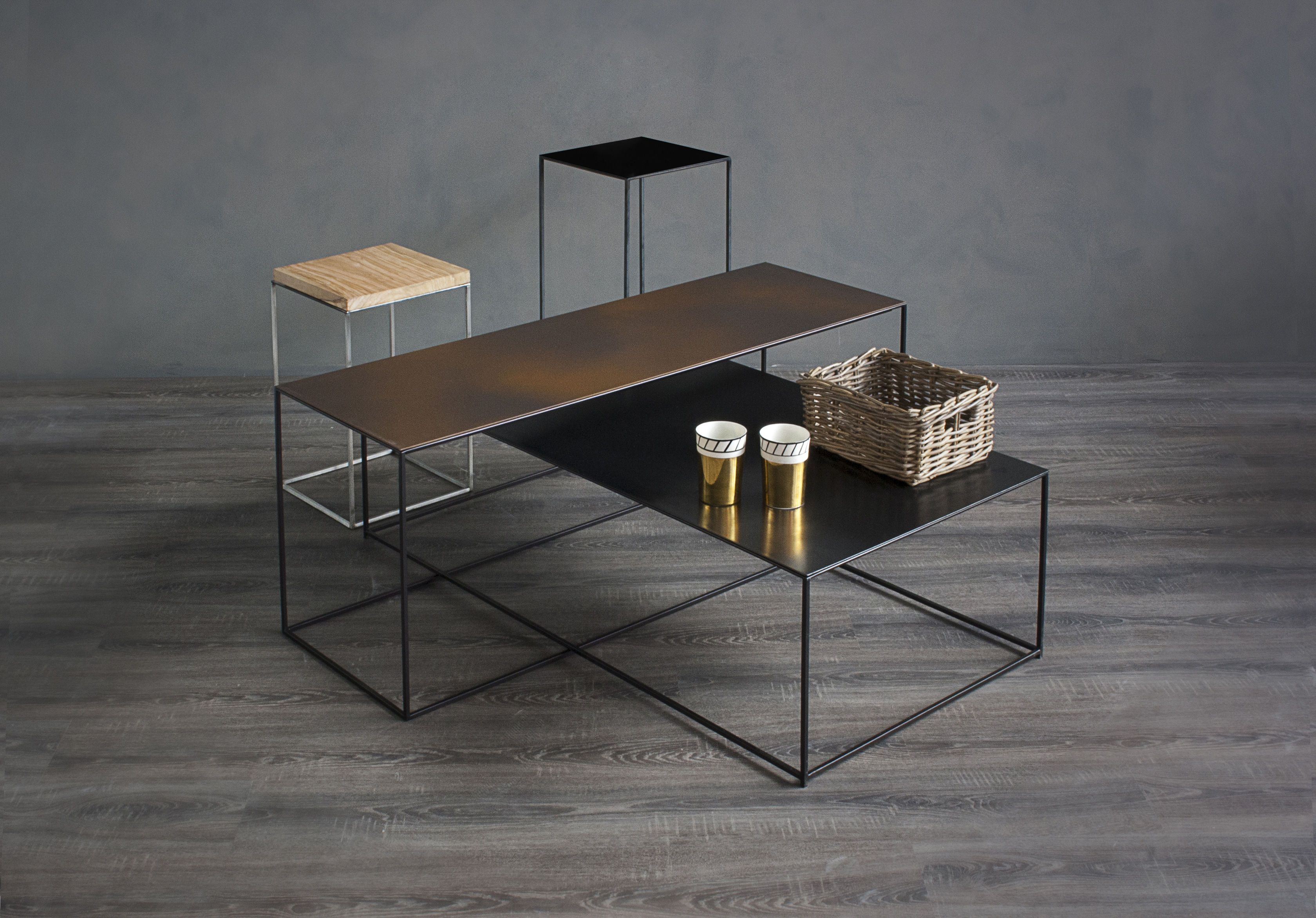 Table Basse Slim Irony Zeus Noir Made In Design Table Basse Table Basse Rectangulaire Mobilier De Salon