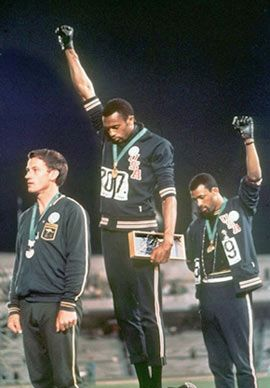 """Tommy Smith and John Carlos of the United States give the """"Black Power  salute"""" during the medal ceremony   Black power salute, Tommie smith, Black  power"""