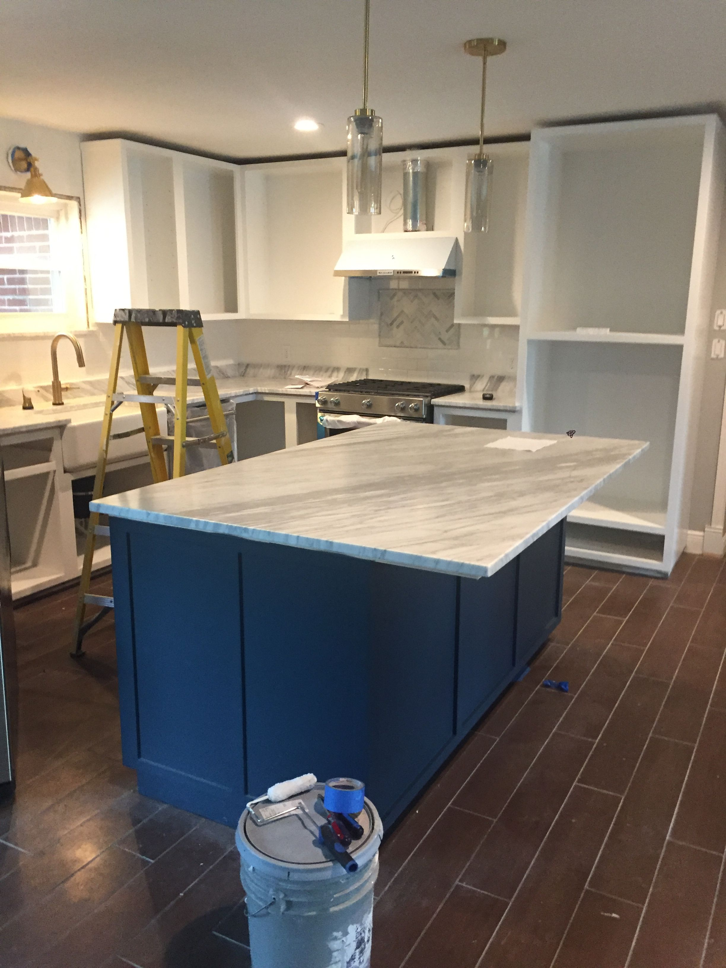 Sherwin-williams Countertop Paint Sherwin Williams Sea Serpent Kitchen Island Seaserpent Paint