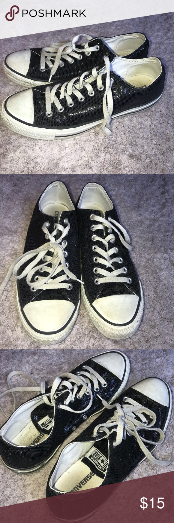 81114730f767eb Converse All Star Glitter Sneakers Size 11 These are in good condition