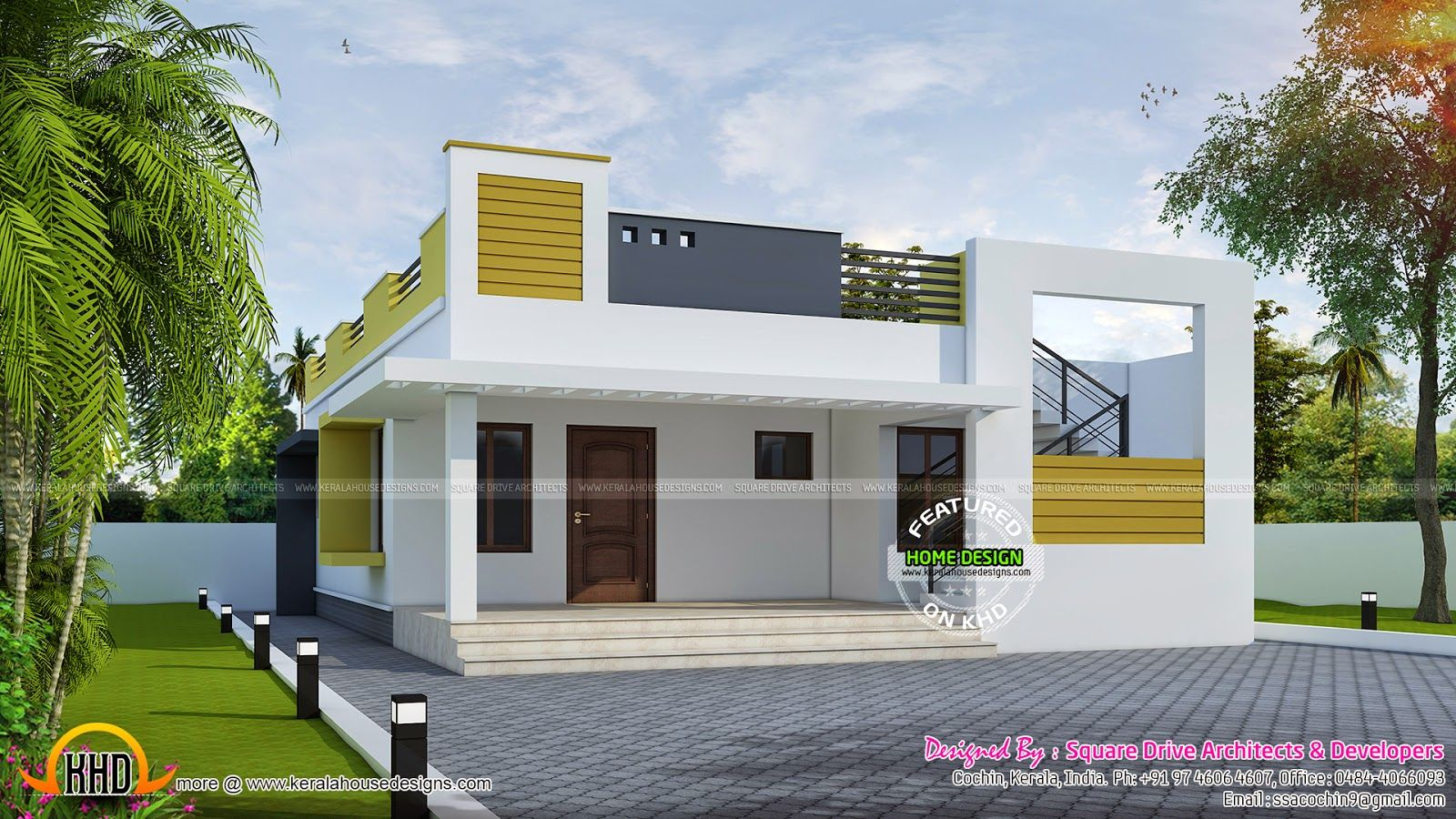 One storied flat house front design cool designs modern also photos of small beautiful and cute bungalow ideal rh pinterest