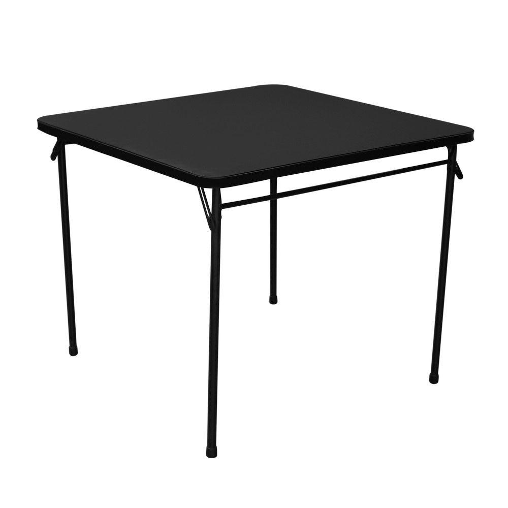 Mesa plegable cuadrada color negra school pinterest for Mesa cuadrada plegable