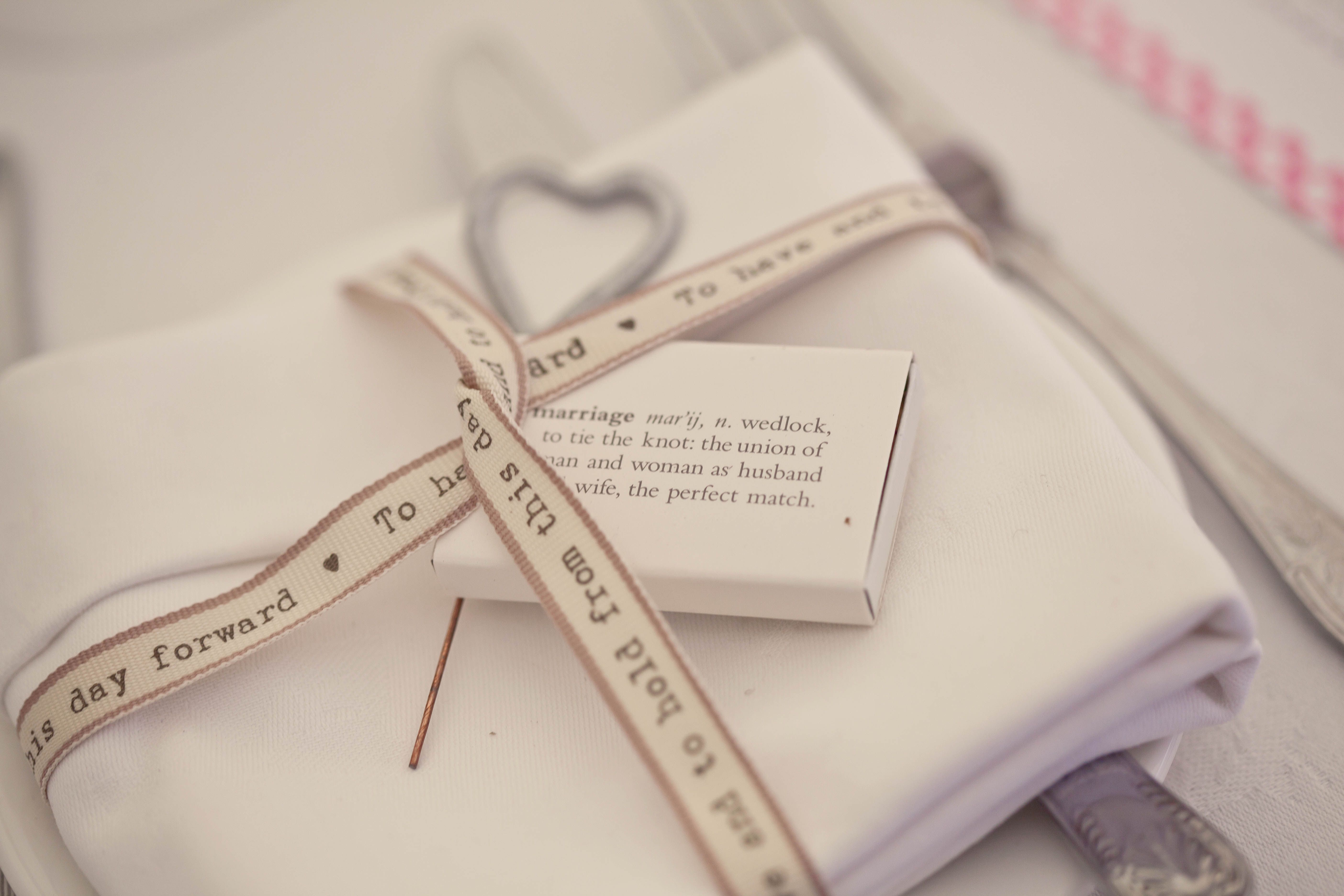 Perfect Match\' place setting. Box of matches and an indoor sparkler ...