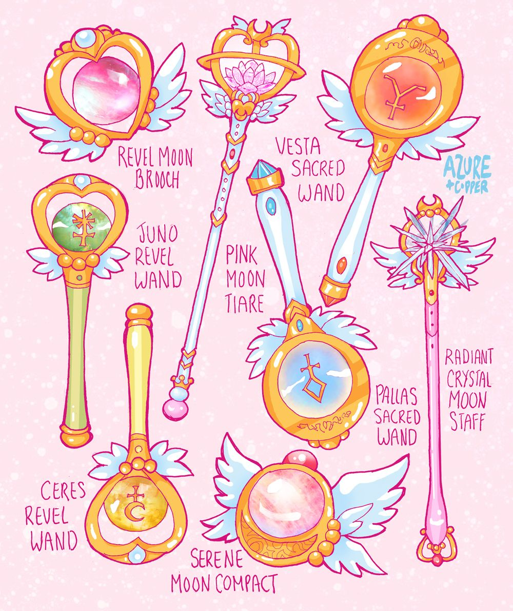 "earthguardianmamoru: "" -Neo Sailor Moon Items and Weapons - Next to the Items only Here are the items and weapons for the characters…"