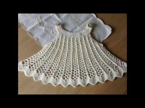 9ba76cd7a vestido a crochet para niñas de 1 año - YouTube