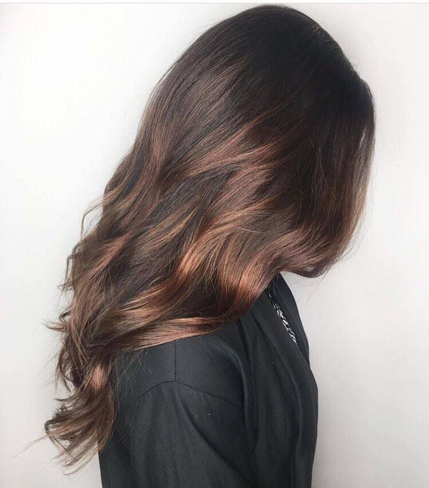 Chocolate Brown Balayage Schwarzkopf Igora Royal Hair By Erin Juju Hair Lounge Vancouver Bc Canada Coffee Hair Brown Hair Colors Coffee Brown Hair