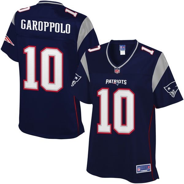 1733ce3d2 ... Womens New England Patriots Jimmy Garoppolo NFL Pro Line Navy Team  Color Jersey - 99.99 ...