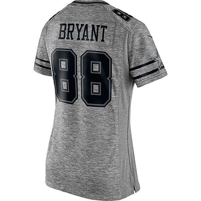 brand new d8300 bc846 Dallas Cowboys Womens Dez Bryant #88 Nike Gridiron Grey ...