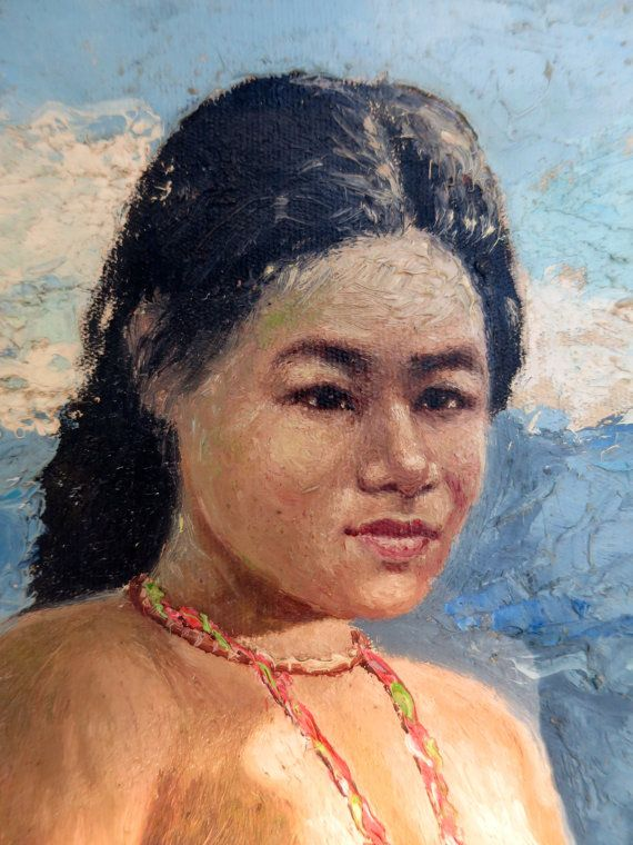 Nude Vietnamese Woman Oil Painting Vietnam War 1960S Nude -4737