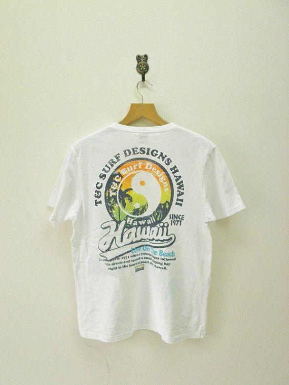 Vintage t c surf designs hawaii t shirt pearl island aloha for Hawaiian design t shirts