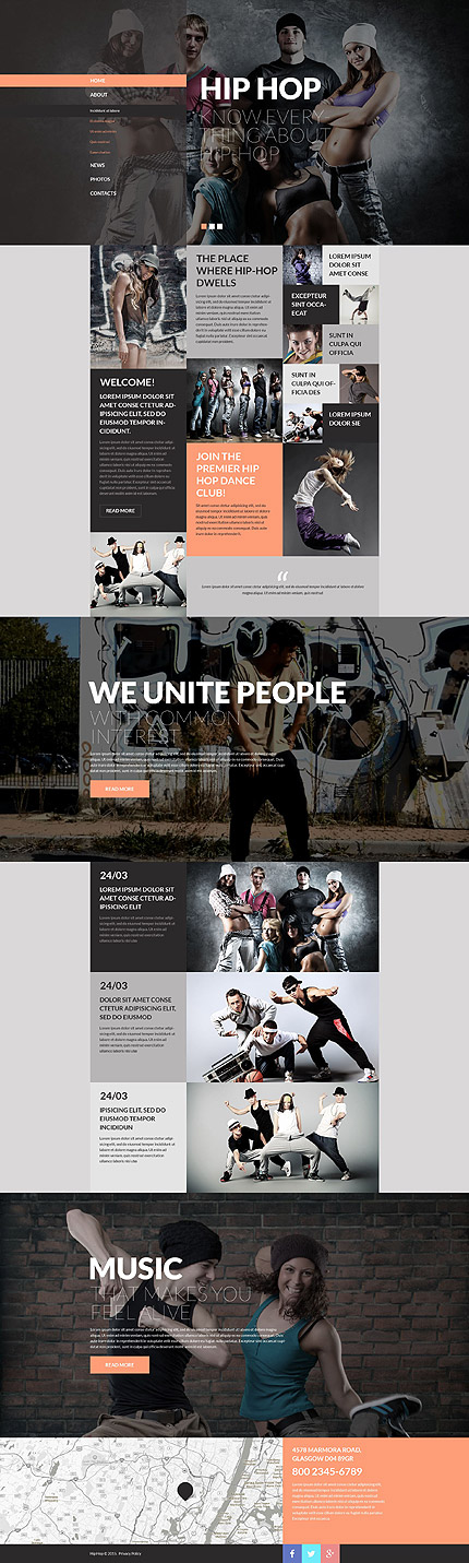 Hip Hop Band Site #website #template. #themes #business #responsive ...