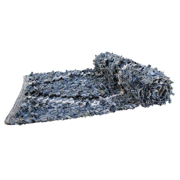 HK Living - Denim rug | denim design, denim recycling, denim re-use, denim upcycling, denim textile design