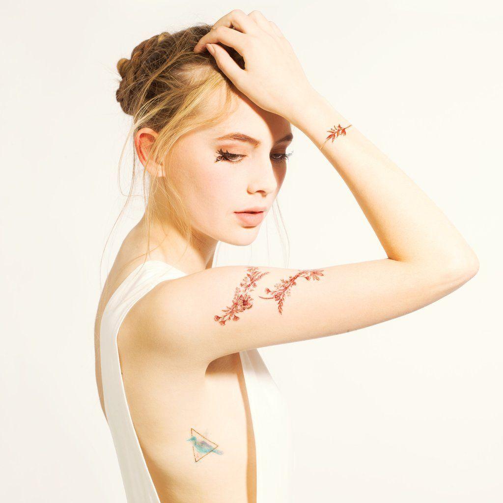 Burgundy garden tattoo garden tattoos realistic