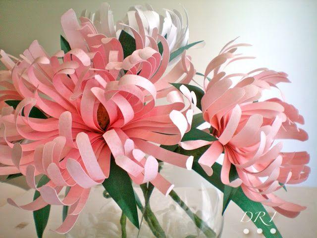 spesso fiori/fiore di carta-crisantemi: facili, come realizzare  BV54