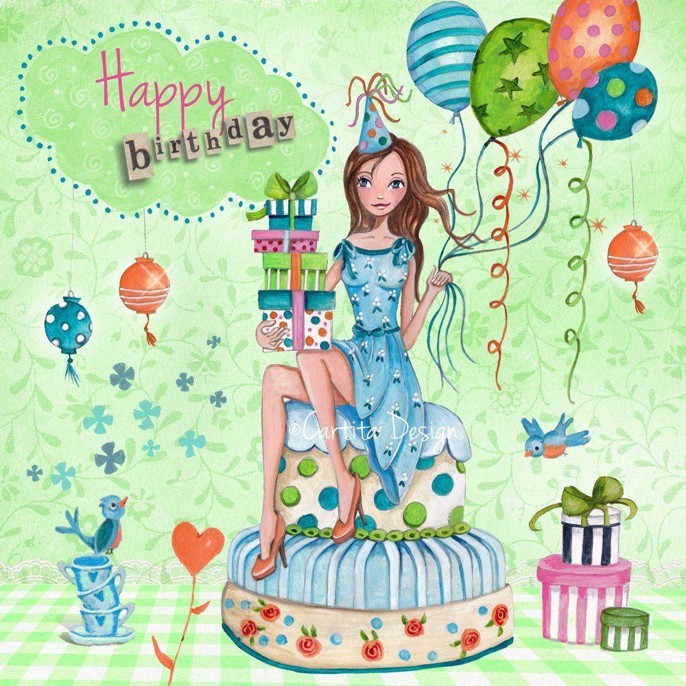 Картинки поздравление на день рождения девочками