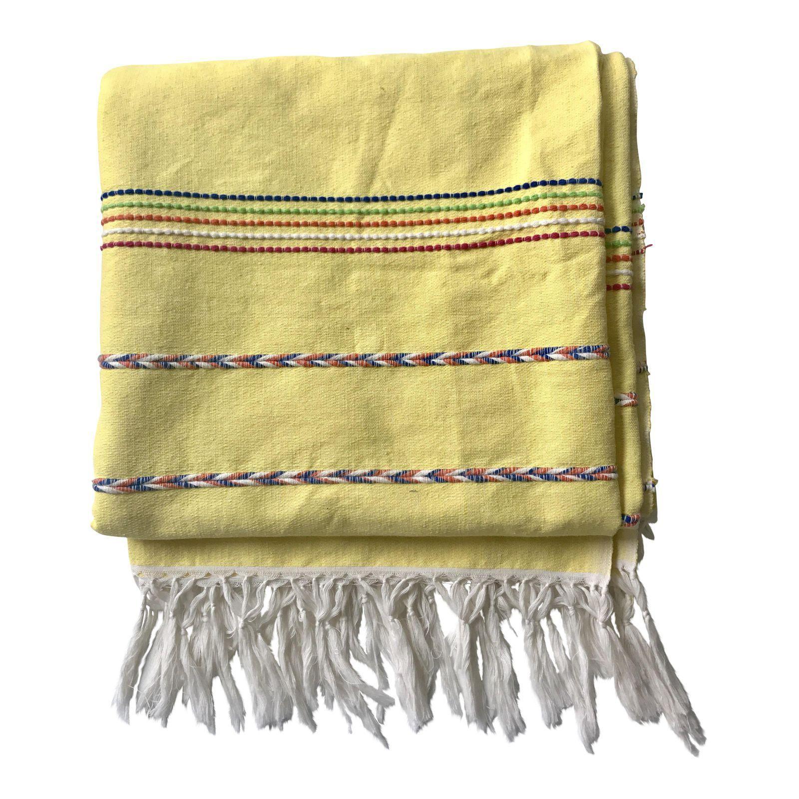 Yellow Throw Blanket With Fringe Yellow Throw Yellow Throw Blanket Throw Blanket