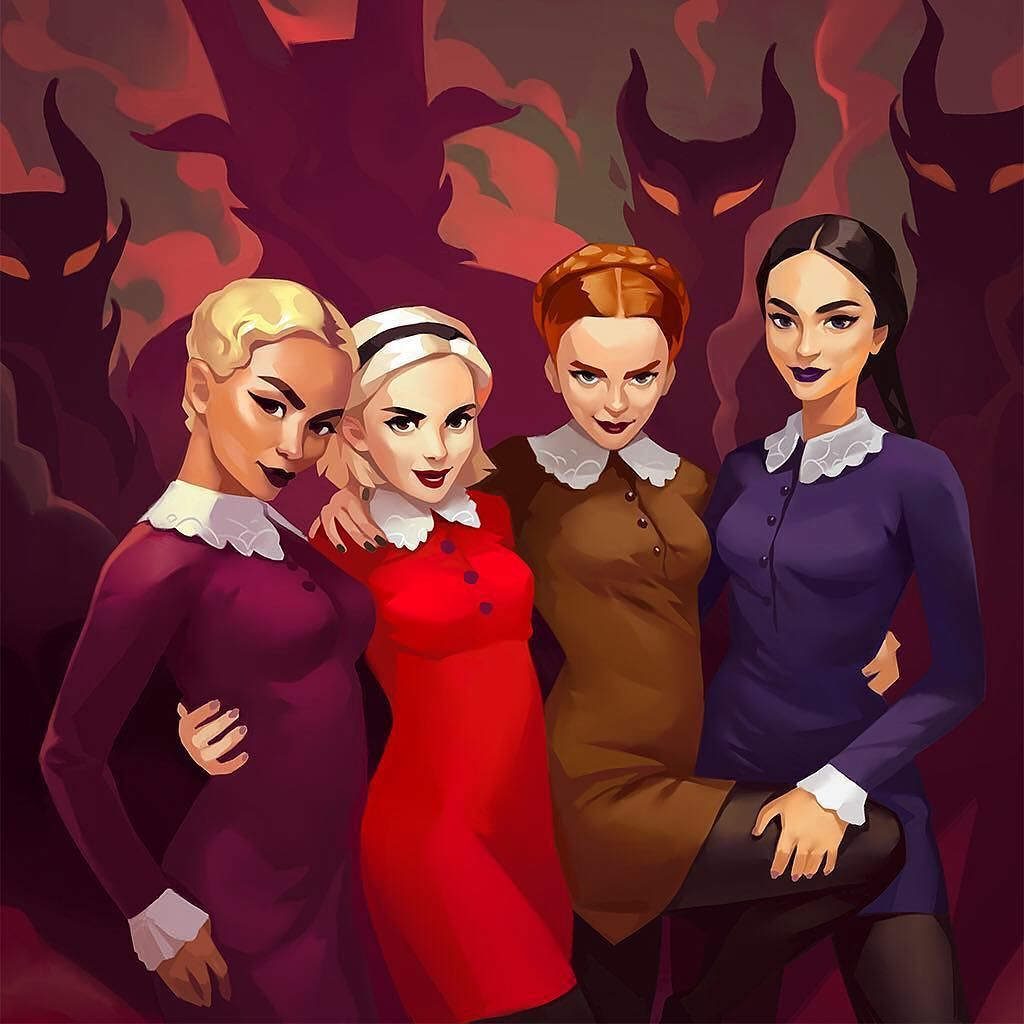 great piece of art brina the weird sisters created by