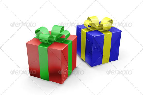 Presents by kjpargeter 3D render of wrapped gifts