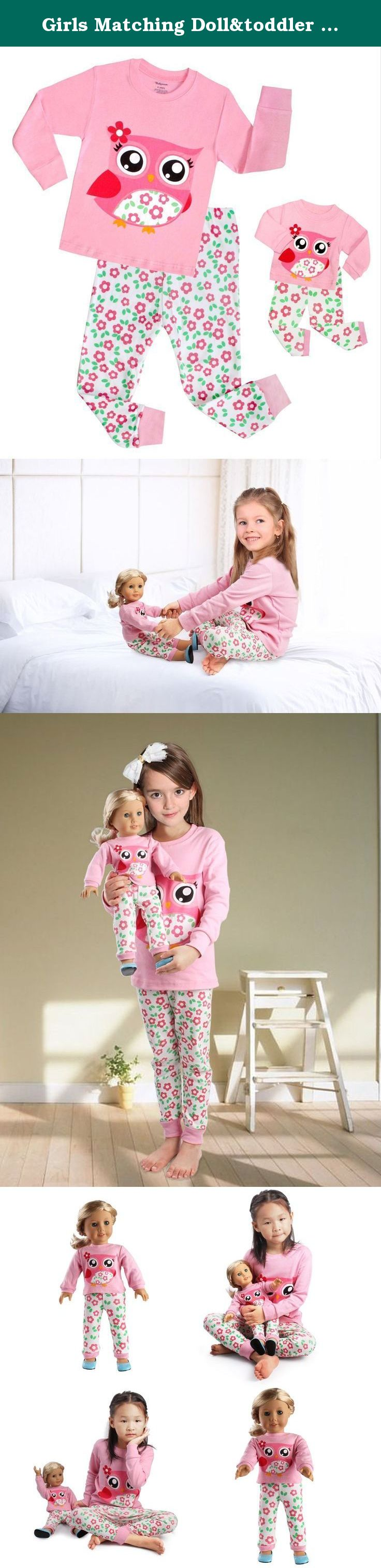 Girls Matching Doll&toddler Owl 4 Piece long cotton Christmas ...
