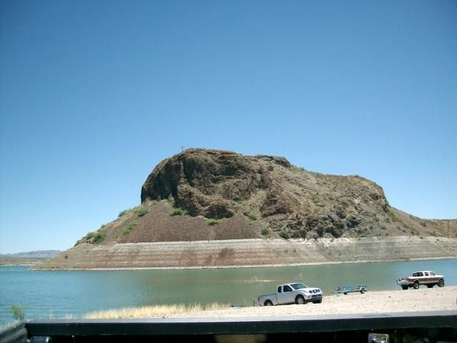 the elephant in elephant butte lake