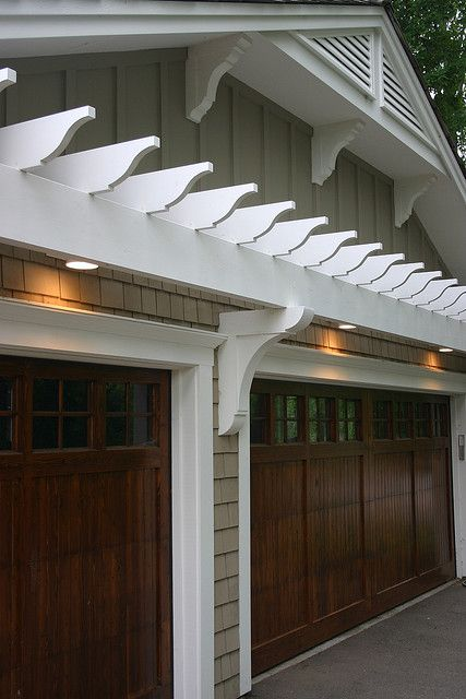 Wayzata Trellis Over Garage Wood Doors Carriage Doors