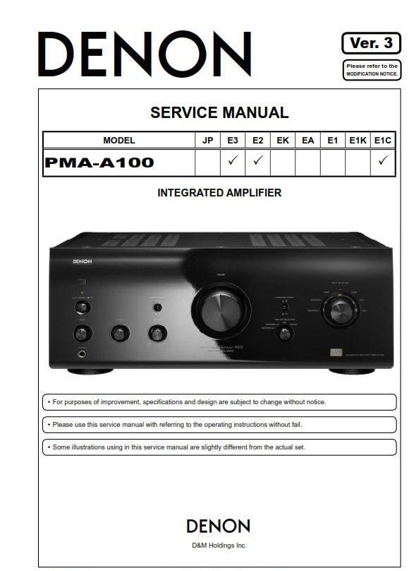 denon pma a100 amplifier original service manual repair rh pinterest com Instruction Guide Manual User Guide Template