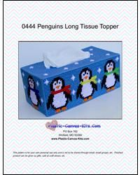Everything Plastic Canvas - Winter Penguins Long Tissue Topper