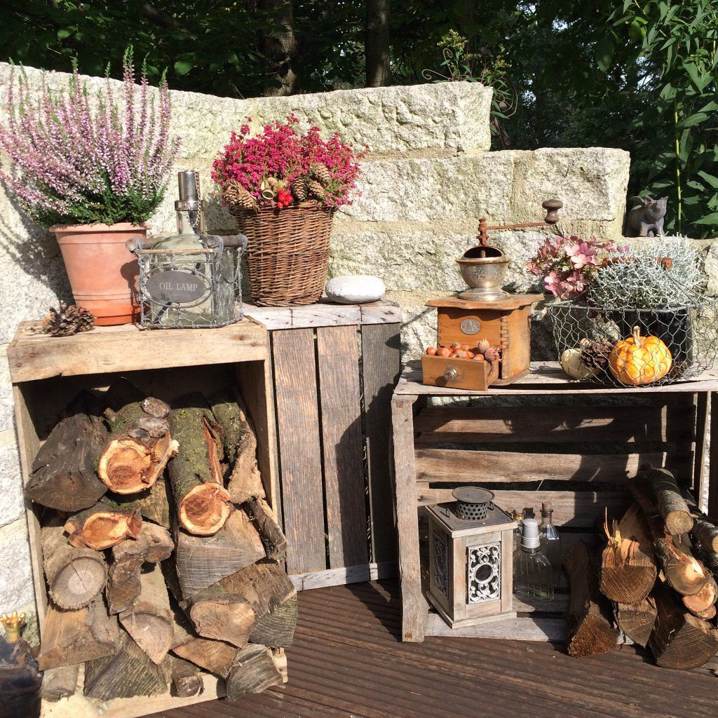 Herbst Deko Terrasse 20 Vintage   Deko, Dekoration, Holz herbst