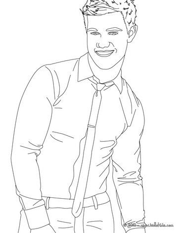 Taylor Lautner Beautiful Smile Coloring Page More Famous People Coloring Sheets On Hellokids Com People Coloring Pages Coloring Pages Beautiful Smile
