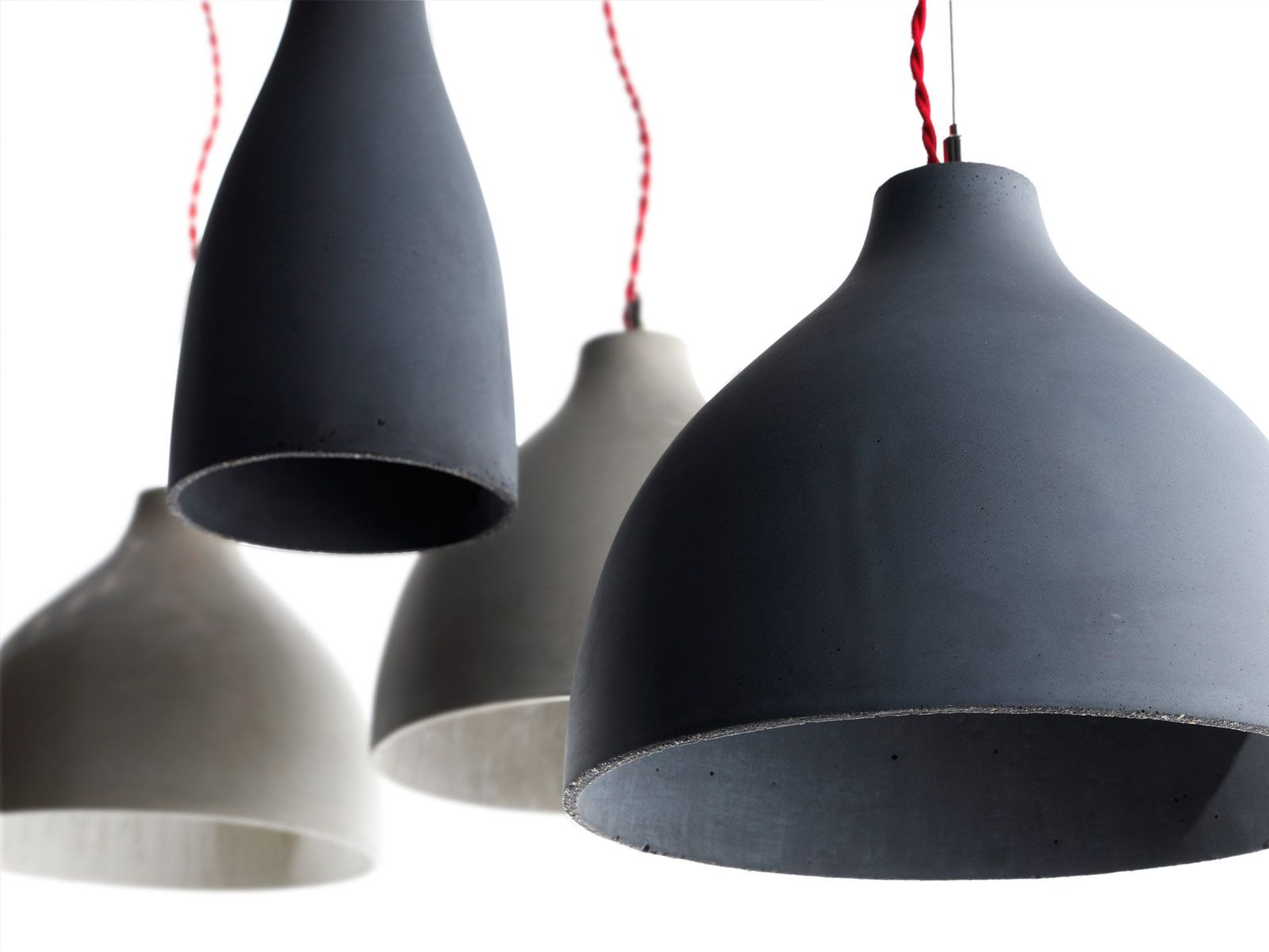 concrete light grey pendant in finn