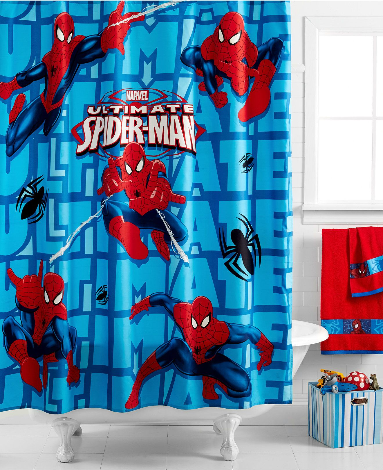 Are Your Spidey Senses Tingling Probably Because You Just Found The Perfect Shower Curtai Spiderman Bedroom Multi Panel Wall Canvas Marvel Spiderman