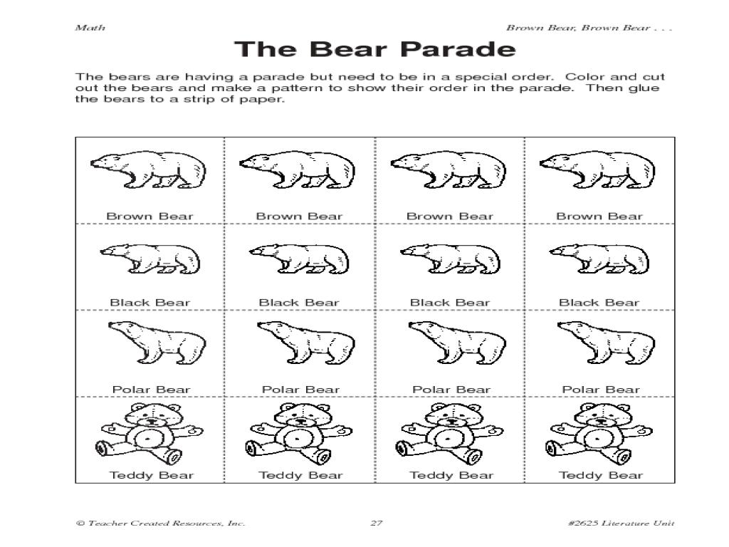 What Did Brown Bear See Worksheet