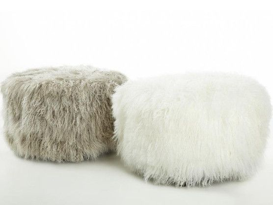 Magnificent Tibetan Lamb Round Pouf Ottoman 7 Color Options 4 Sizes Pdpeps Interior Chair Design Pdpepsorg