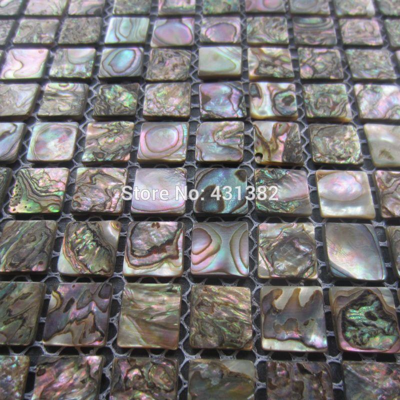 Abalone shell green mosaic tile,kitchen backsplash tiles ...