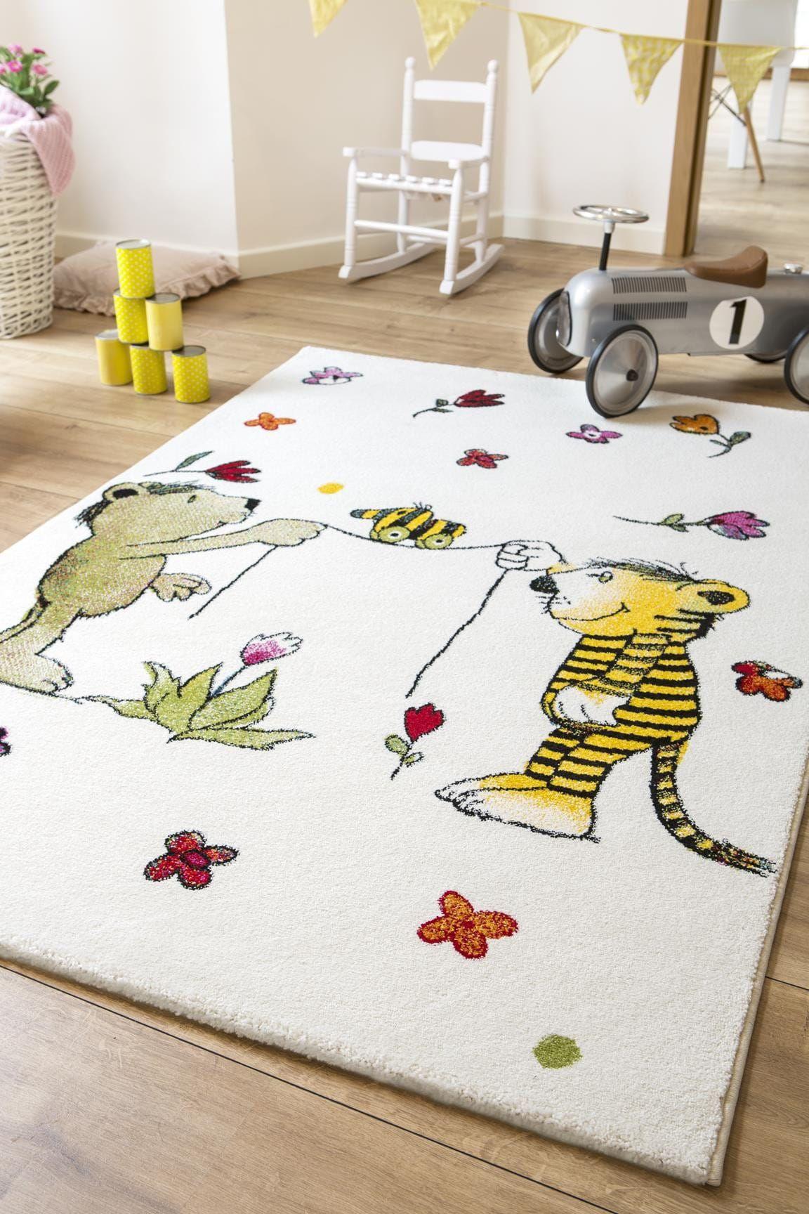 Janosch Kinderteppich Blumenregen Teppich design